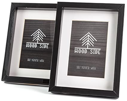 Amazon Wooden Picture Frames Black 6x8 2 Pack Solid Wood