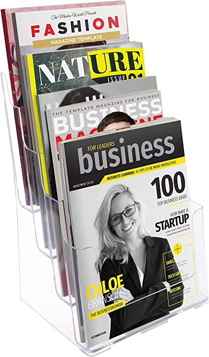 Taymar 4C330 Versatile Display Stand for A5//A4//DL Leaflets and Brochures Clear