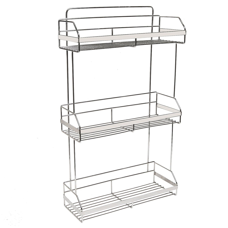 Amazon.com: Stainless Steel Space Saver 3-Tier Bathroom Toiletries ...