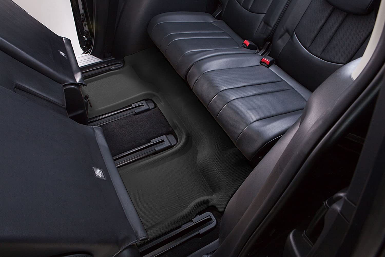 3D MAXpider Third Row Custom Fit All-Weather Floor Mat for Select Ford Explorer Models L1FR03531509 Kagu Rubber Black