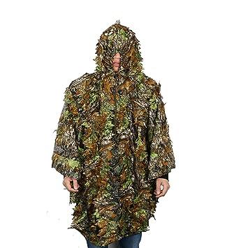 Poncho de Camuflaje, OUTERDO Traje de Camuflaje Para Caza Woodland Ligero Escondido: Amazon.es: Deportes y aire libre