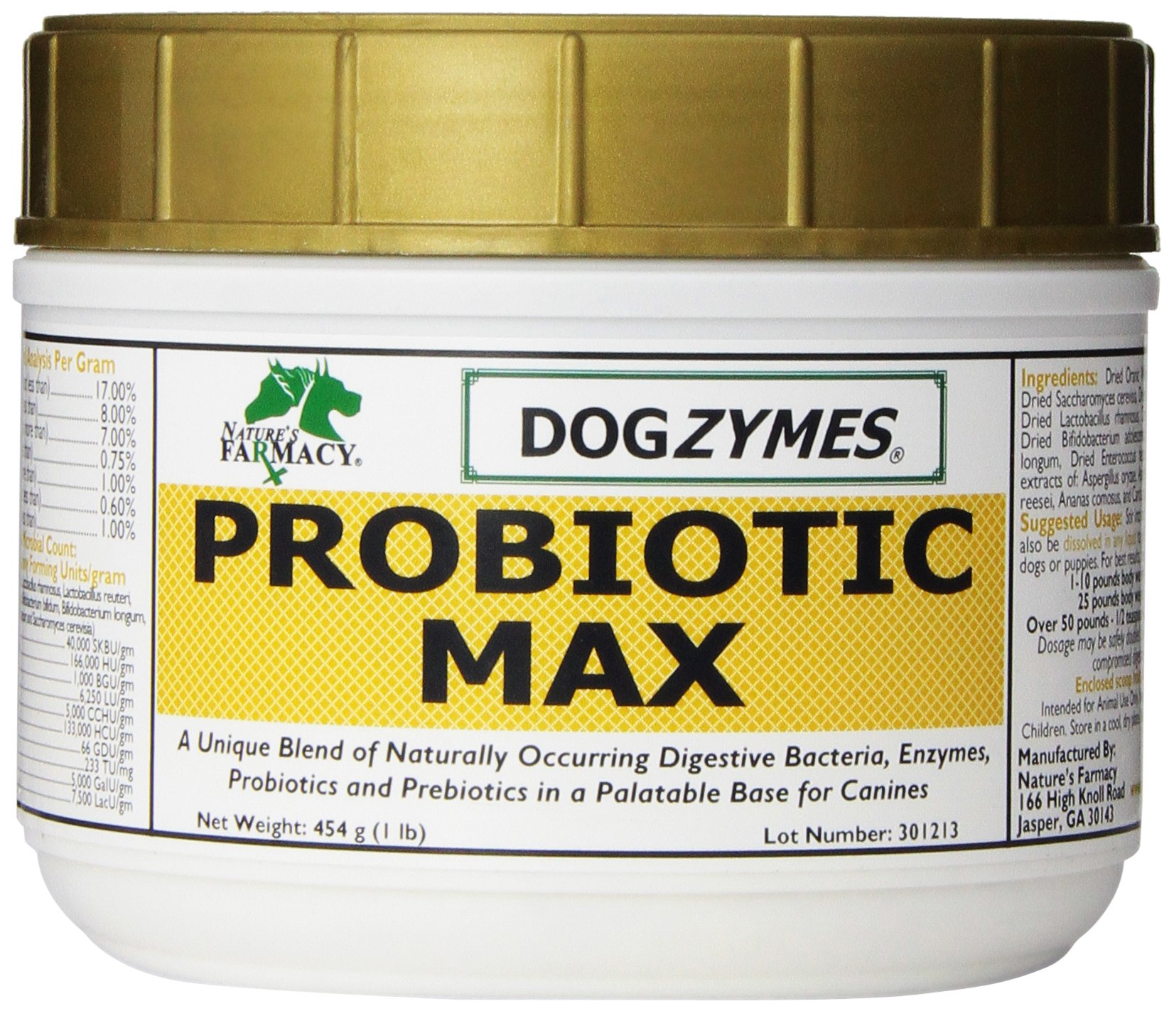 Nature's Farmacy Inc Dogzymes Probiotic Max, 1-Pound