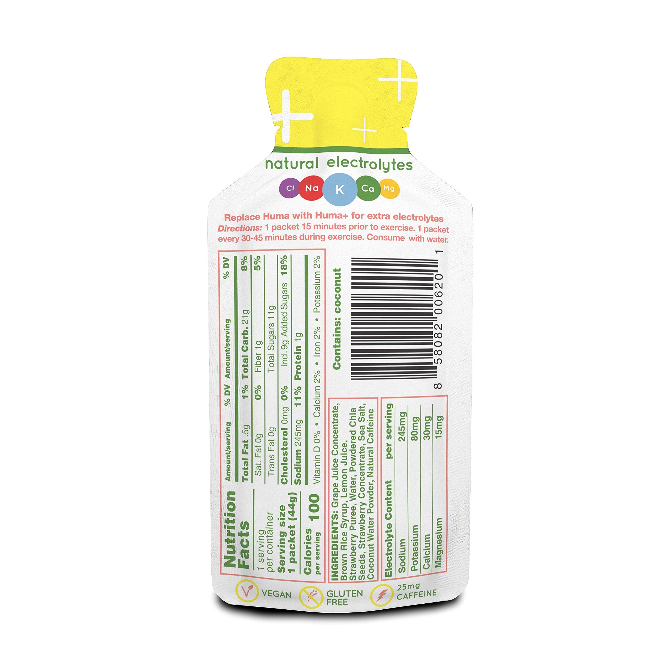 Huma Plus - Chia Energy Gel, 8 Plus & 16 Original Gels - Natural Electrolyte Enhanced Energy Gel by Huma Gel (Image #3)