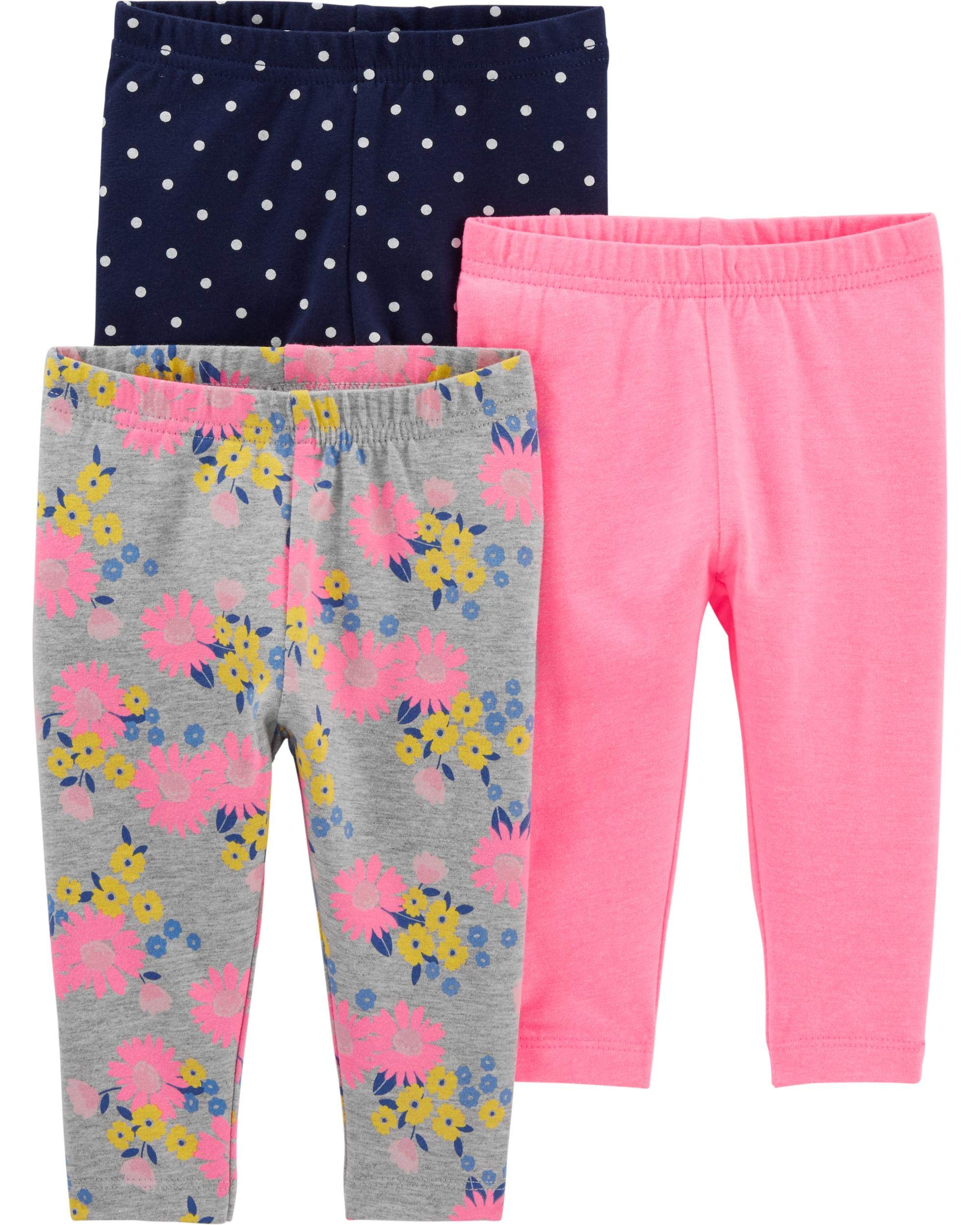 Simple Joys by Carter's Baby and Toddler Girls' 3-Pack Leggings