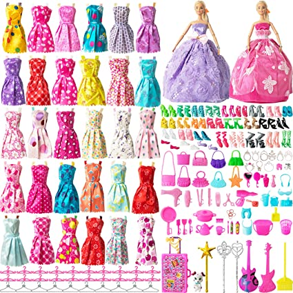 32pcs Doll Clothes Set Fashion Accessories for 11-12 Inch Girl Party New Outfits