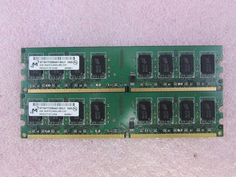 Lot of 2 Micron 2GB 2RX8.PC2-6400S DDR2 Laptop Memory RAM MT16HTF25664HY-800J1