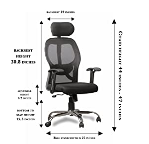 KS Chair High Back Matrix Chair for Office & Study