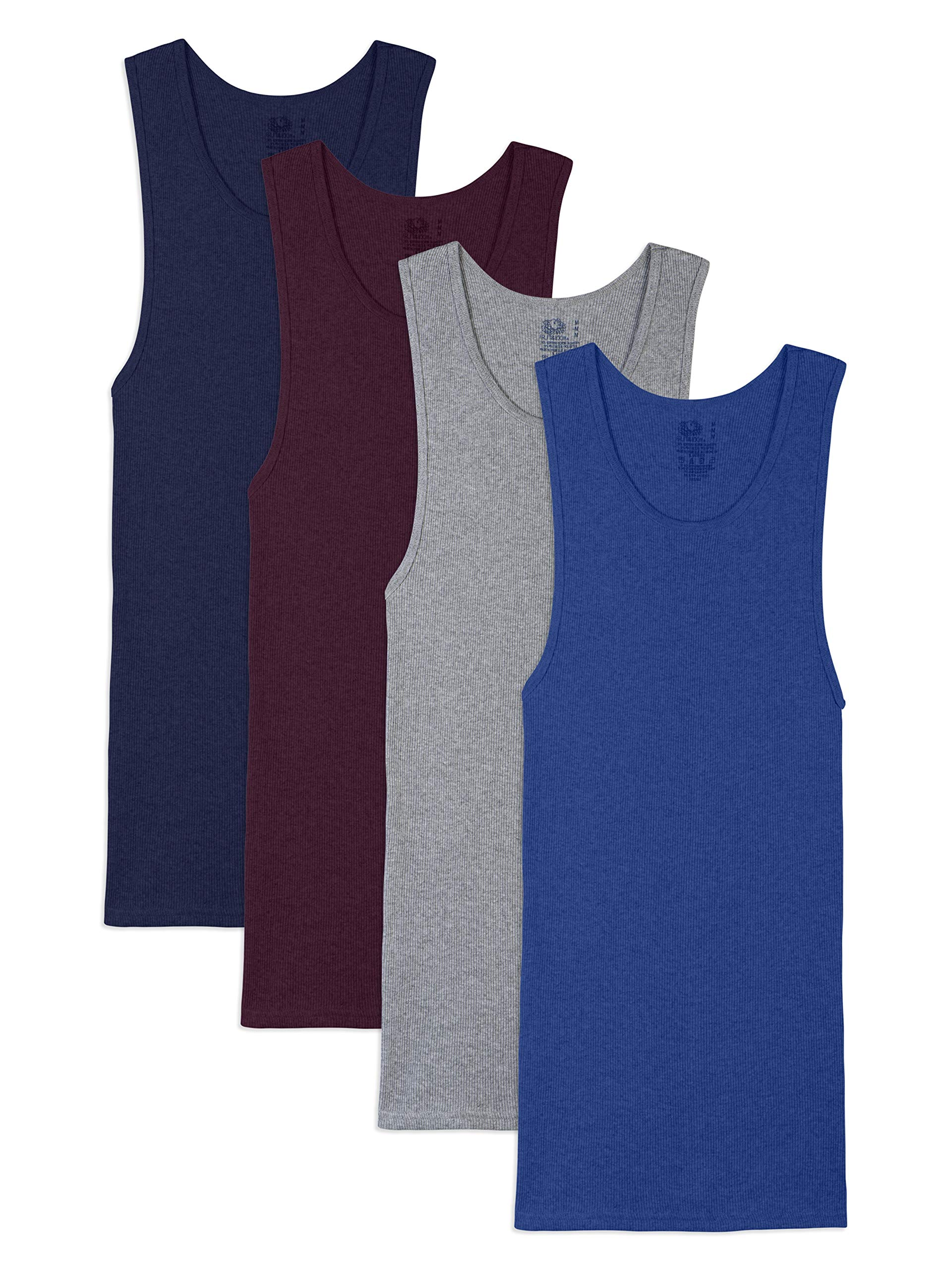 Fruit of the Loom Men's A-Shirt (Pack of 4), Assorted, XXX-Large by Fruit of the Loom