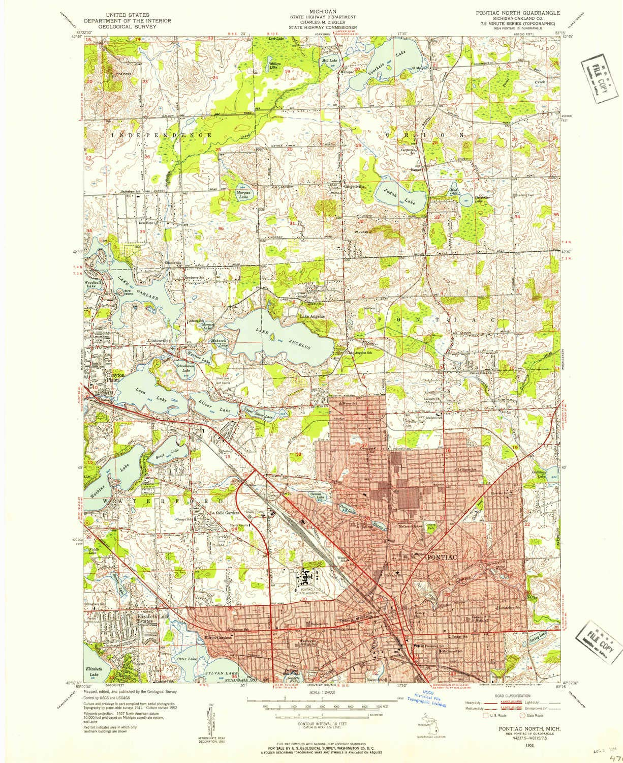 Amazon Com Yellowmaps Pontiac North Mi Topo Map 1 24000 Scale