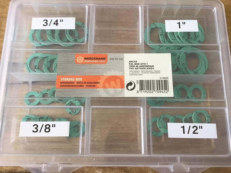 41 piezas Juego de juntas planas para sanitarios 3//8-1 KLINGERSIL C-4400
