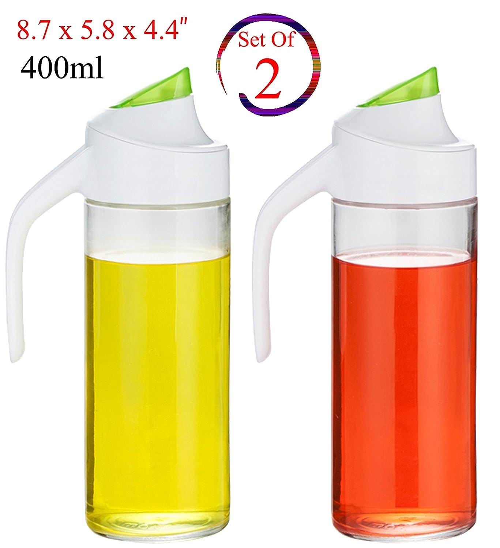 Amazon.com: 400ml NON- DRIP Oil and Vinegar Glass Bottle Dispenser ...