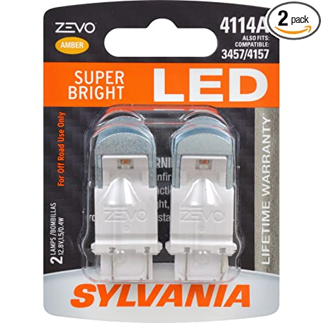 Amazon.com: SYLVANIA - 4114 ZEVO LED Amber Bulb - Bright LED Bulb, Ideal for Park and Turn Lights (Contains 2 Bulbs): Automotive