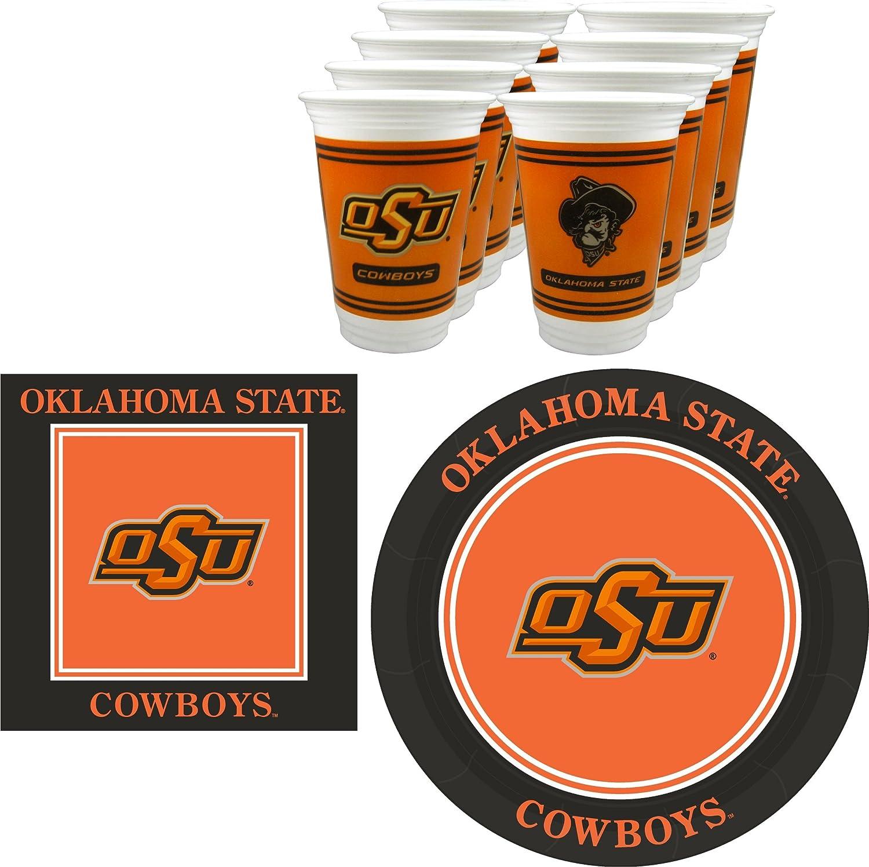 Westrick Oklahoma Sooners Napkins /& Plates 64 pieces