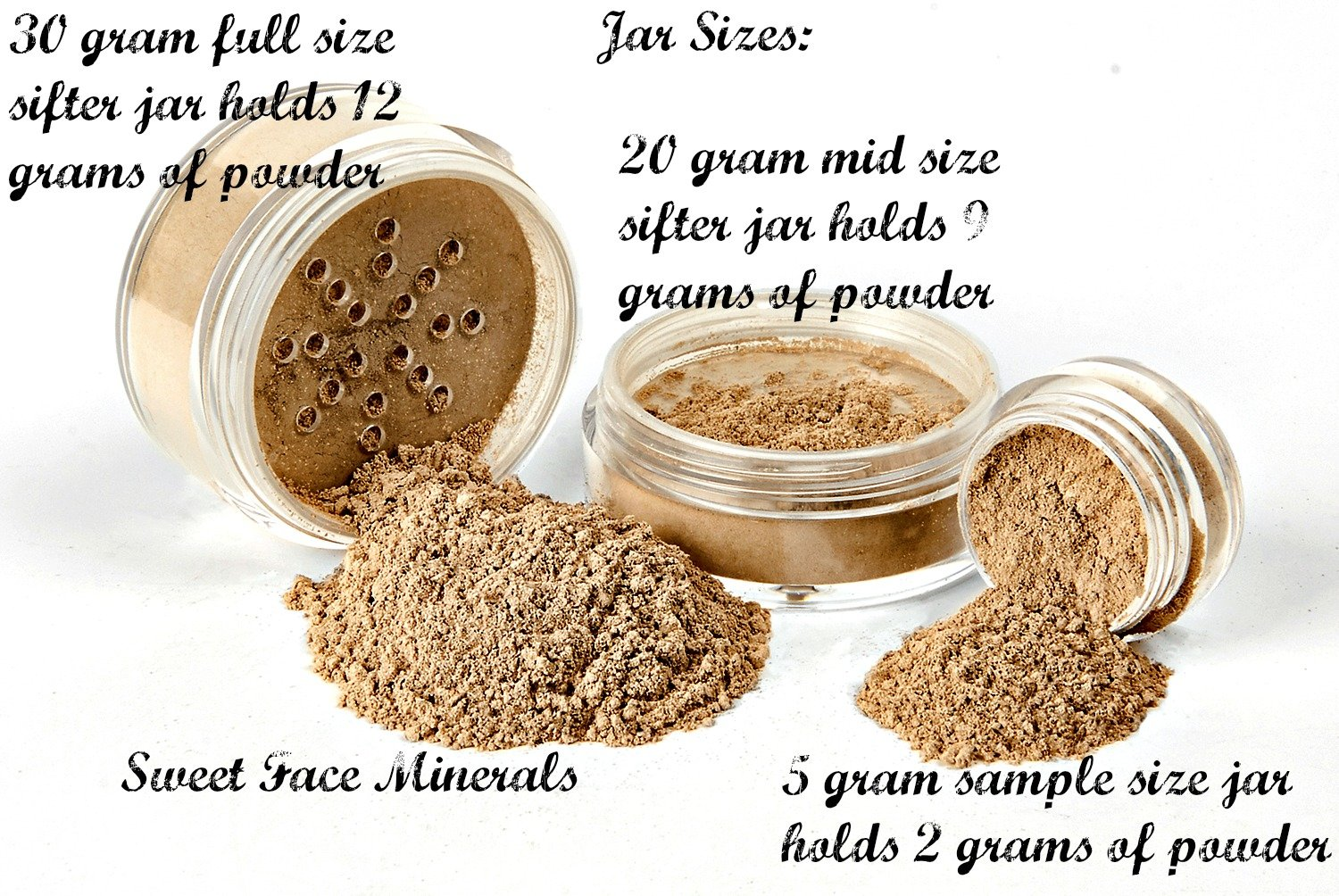 BLACK & BROWN EYE LINER w/BRUSH KIT Mineral Makeup Shadow Bare Skin Brow Powder Set by Sweet Face Minerals (Image #2)