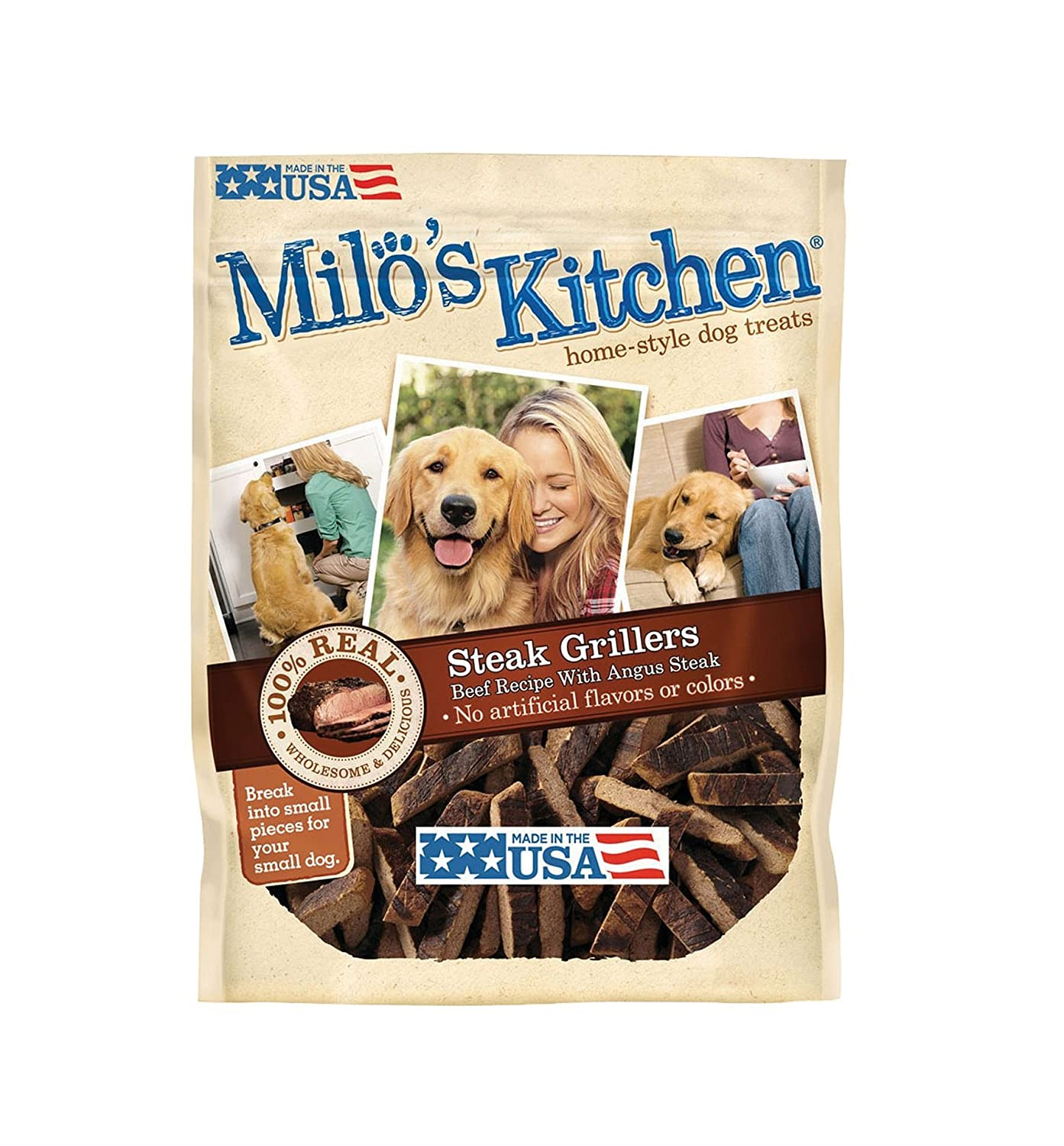Milo S Kitchen Steak Grillers Home-Style Dog Treats With Angus Steak, 30 Oz