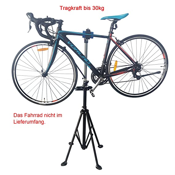 Yorbay Soporte Caballete Plegable para Bicicletas, Altura Ajustable Desde 110-200 cm, la Carga Máxima hasta 30 kg, Apoyo de 4 Pies, Color Negro: Amazon.es: ...