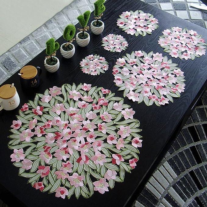 Tischläufer Blumen Tischdecke Margerite Läufer Tischband 140x40 cm