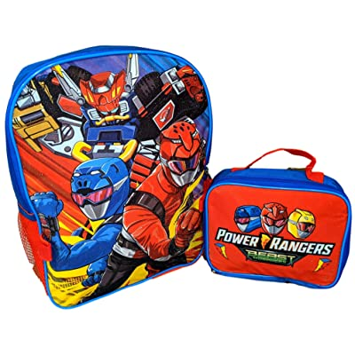 Power Rangers Beast Morphers 16 Inch Backpack with Insulated Lunch Box | Kids' Backpacks