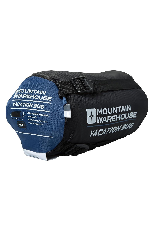 Mountain Warehouse Bolso Durmiente del contra-Mosquito - Bolso Que acampaba de la estación el 1/2, Bolso Incorporado de Sleepover de la Red del Mosquito ...