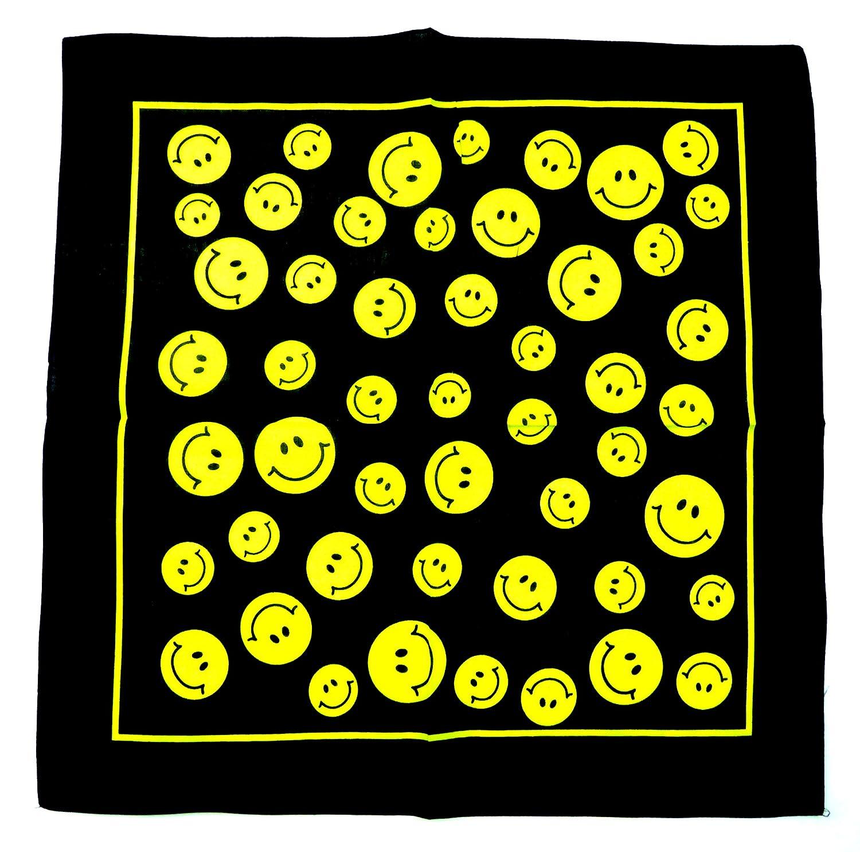 Evil Wear Nickituch schwarz mit Smiley Motiv gelb Funny Design