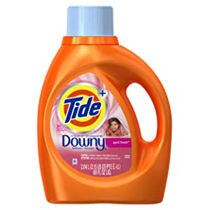 Tide Plus Downy April Fresh Scent Liquid Laundry Detergent, 69 oz, 36 loads