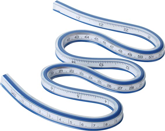60cm HEEPDD Flexible Curve Ruler Plastic Double Sided Curve Ruler for Office School Studio Drawing Design Drafting Graphics Garment Carpentry