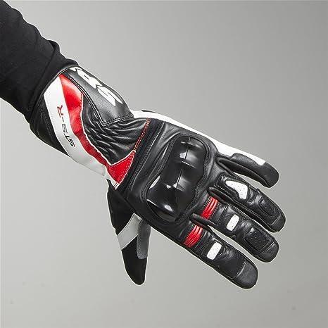 Spidi Nero//Bianco Guanti da Moto STS-R XL