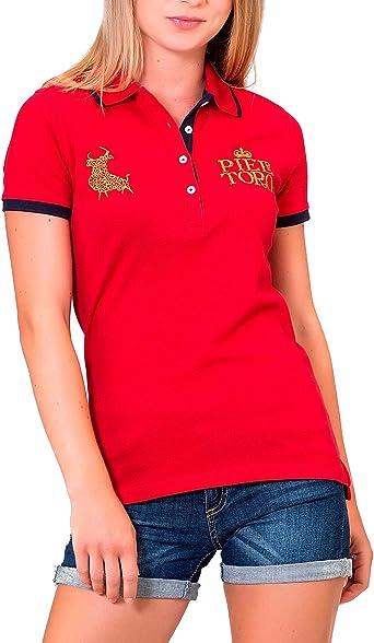 Piel de Toro 41132531 Polo, Rojo (Rojo 22), Medium (Tamaño del ...