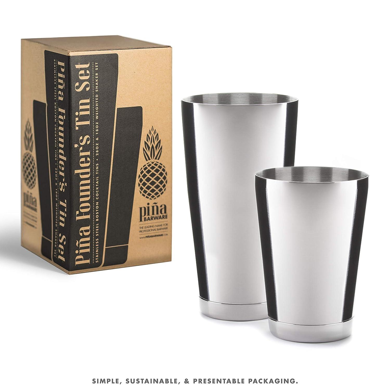 /& 18oz. Pi/ña Barware Stainless Steel Bar Boston Shaker Tin Set 28oz