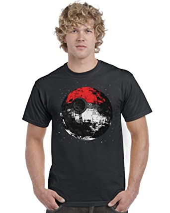50d487ca4 Death Star Pokeball T Shirt: Amazon.co.uk: Clothing