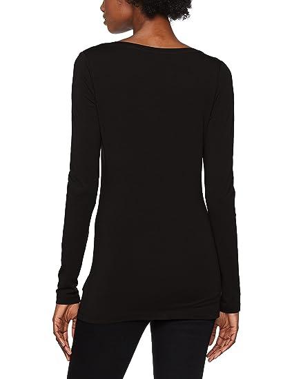 Base R T WMN L/s, T-Shirt à Manches Longues Femme, Gris (Black 990), X-LargeG-Star