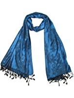 Lovarzi Floral Scarf for Women - Beautiful women's pashmina scarf with floral and geometric design