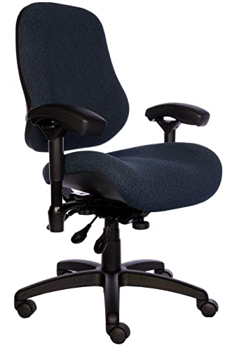BodyBilt J2504x Blue Fabric XL High Back Task Ergonomic Chair