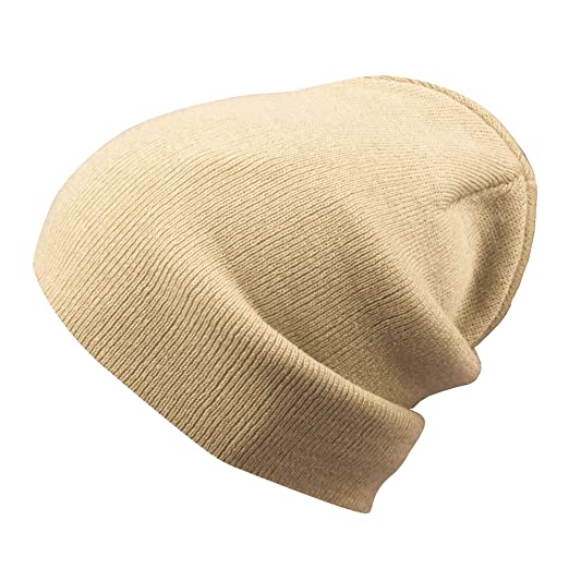 72cc3fe1e8a Morehats Cotton Feel Slouchy Beanie Winter Warm Ski Skater Hip-hop Hat -  Beige. Roll over image to zoom in