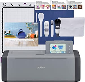 Brother ScanNCut SDX125EGY Electronic DIY Cutting Machine with Scanner, Make Custom Stickers, Vinyl Wall Art, Greeting Cards and More with 682 Included Patterns, Grey