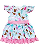 So Sydney Toddler & Girls Ice Cream Summer Treats Shorts Skirt Dress Collection