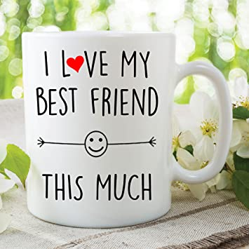 Amazon Funny Coffee Or Tea Mug I Love My Best Friend This Much
