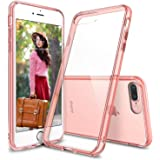 Ringke iPhone 7 Plus Case, [FUSION] Crystal Clear PC Back TPU Bumper [Drop Protection/Shock Absorption Technology] Raised Bezels Protective Cover For Apple iPhone 7 Plus 2016 - Rose Gold Crystal
