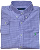 Polo Ralph Lauren Men\u0026#39;s L/S Gingham Poplin Shirt