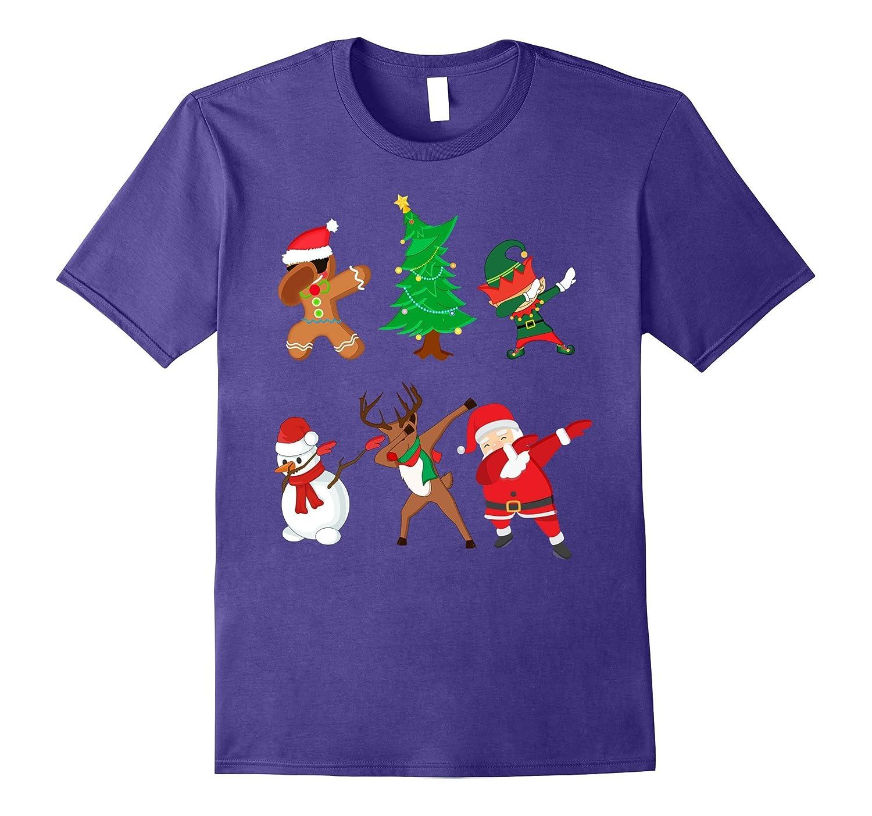 Funny Dabbing Christmas Santa & Friends Dab T-Shirt-ANZ