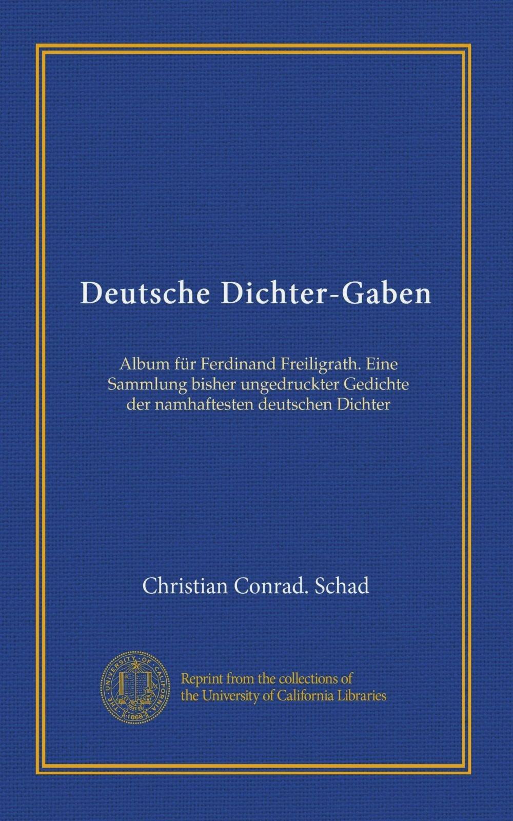 Deutsche Dichter Gaben Vol 1 Album Für Ferdinand