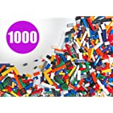 SainSmart Jr. 1000 Pcs Building Bricks Set, Bulk Blocks with Roof Pieces, Free Remove Tool, Tight Fit with Major Brand