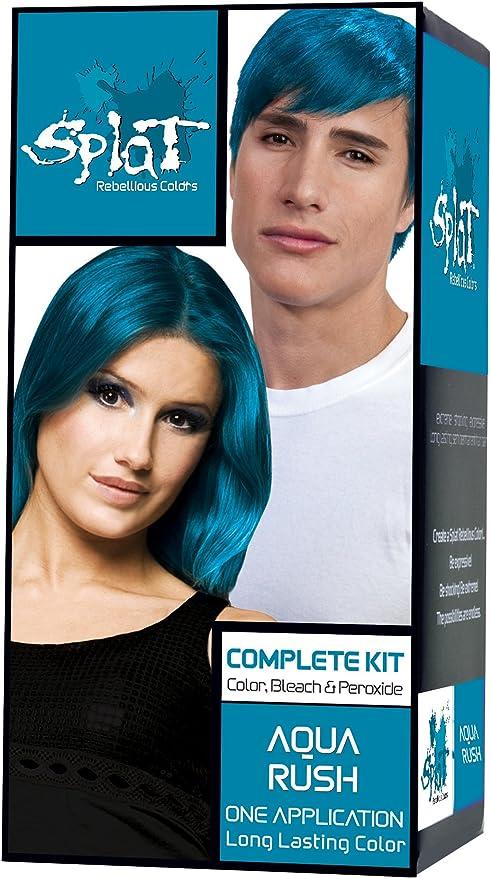 SPLAT kit completo de color de pelo, Aqua Rush,