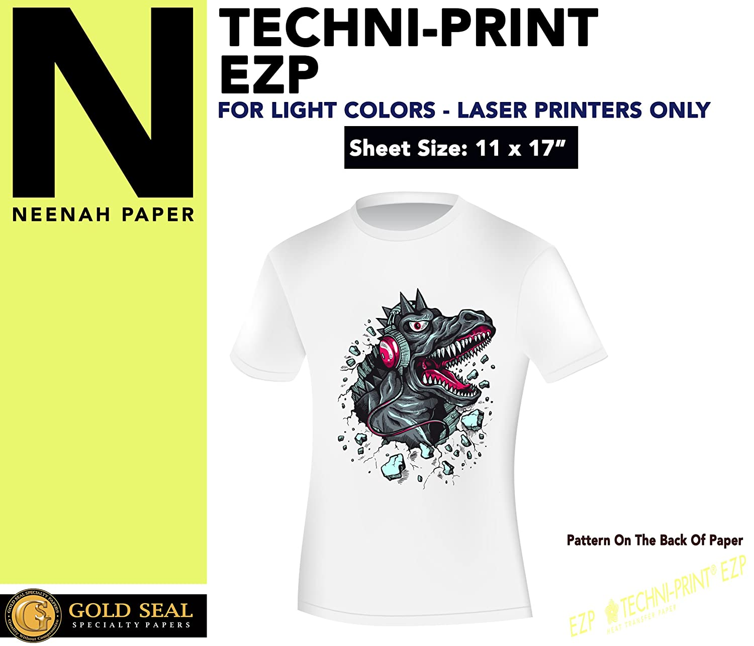 eced0edc9 Amazon.com : Sublimation Printing for Light Cotton Fabric (Yellow Line Heat  Transfer Paper) 11