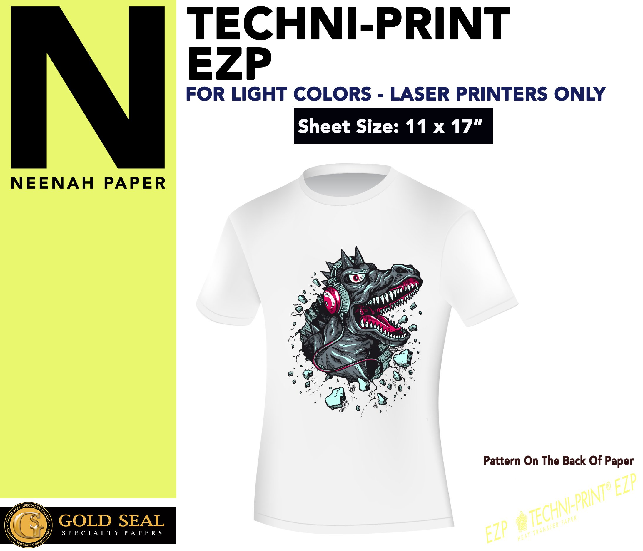 Sublimation Printing for Light Cotton Fabric (Yellow Line Heat Transfer Paper) 11'' x 17'' - 100 Sheets