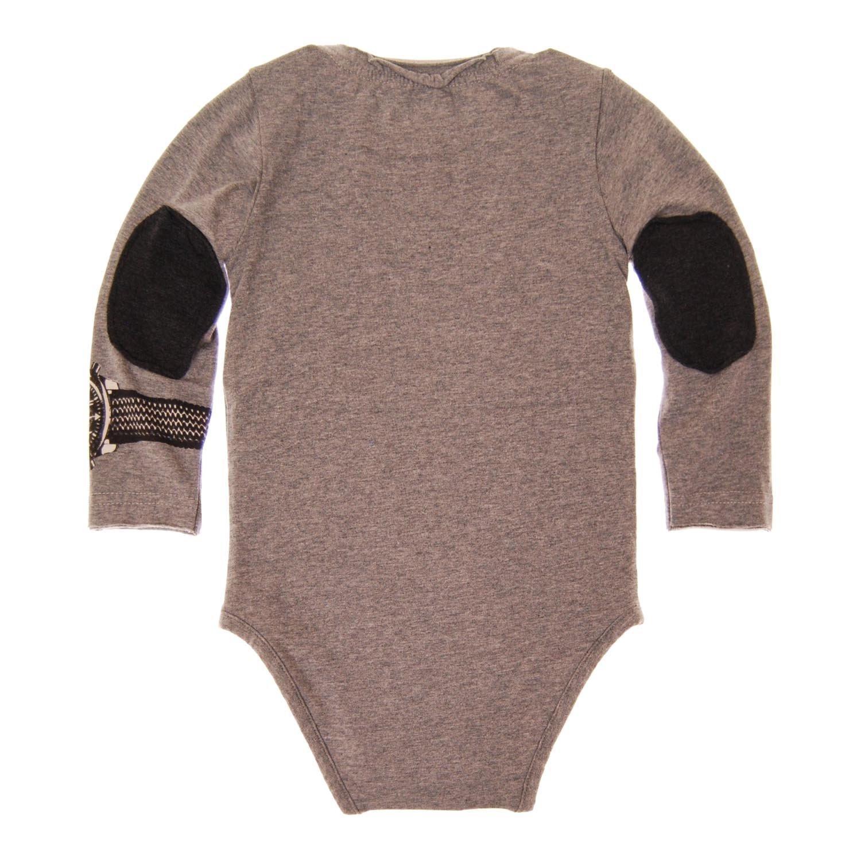 Mini Shatsu Baby Boys Plaid Scarf Bodysuit