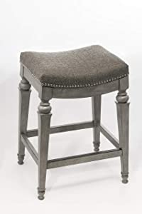 Hillsdale Furniture 5606-826 Vetrina Backless Non-Swivel Counter Stool, Weathered Grey