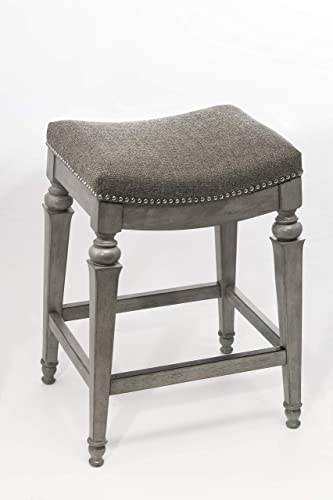 Hillsdale Furniture Vetrina Backless Non-Swivel Counter Stool, Weathered Grey
