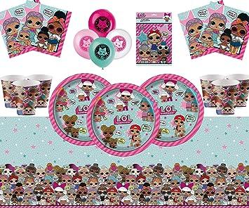 Offershop LOL Surprise Party Supplies Decoraciones de vajilla para ...