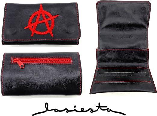La Siesta Cartera para tabaco de liar, diseño de logo anarquista: Amazon.es: Hogar